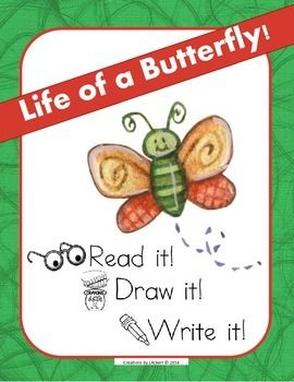 Students will create their very own mini-book of the life cycle of a butterfly! Units in the series:Life of a Ladybug ~ Read it! Draw it! Write it! http://www.teacherspayteachers.com/Product/Life-of-a-Ladybug-Read-it-Draw-it-Write-it-Life-Cycle-of-a-Ladybug-1236922Life of a Frog ~ Read it!