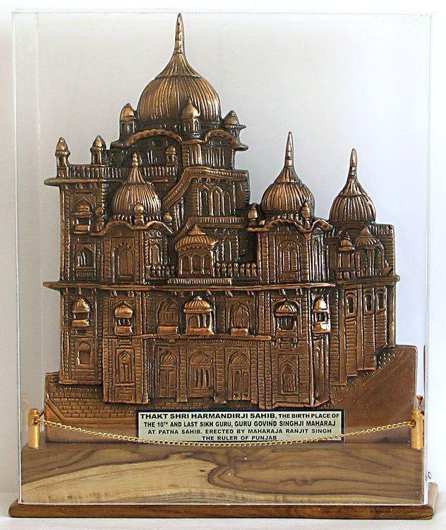 Harminder Sahib Gurudwara (Encased in Acrylic) (Black Metal)