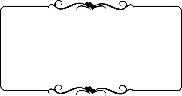 word clip art wedding embellishments | Black Heart Border ...