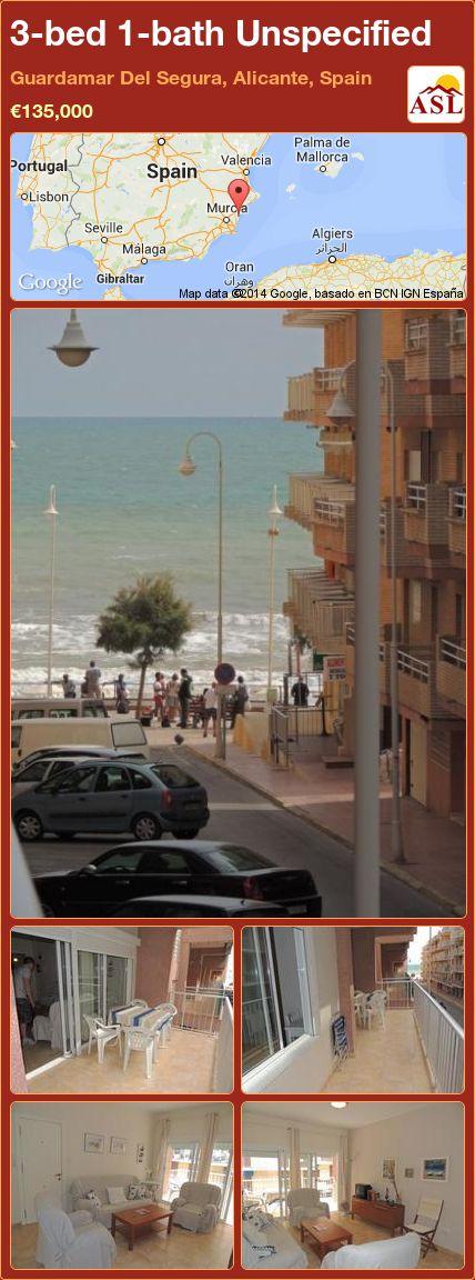 3-bed 1-bath Unspecified in Guardamar Del Segura, Alicante, Spain ►€135,000 #PropertyForSaleInSpain