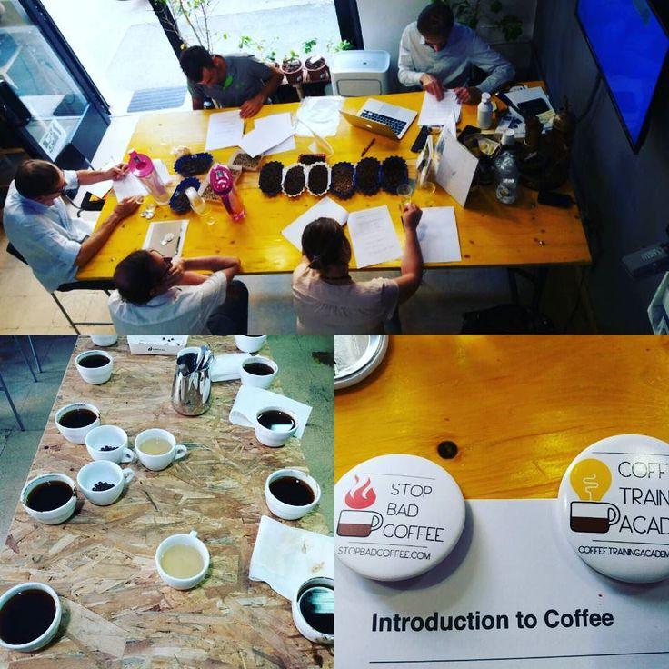 Oggi #introduction to #coffee by Alessandro Galtieri #training #cupping #CoffeeTrainingAcademy #aroma #coffeeporn #sca #coffelover #passion