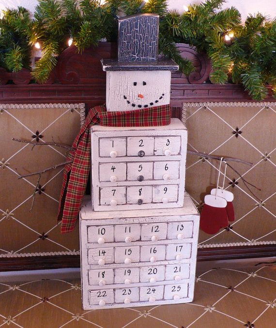 Unique Advent Calendar Ideas : Best wooden advent calendar ideas on pinterest