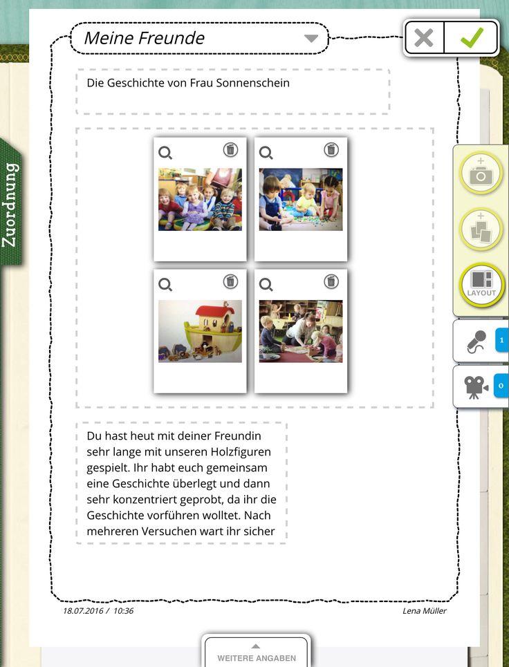 Eins, zwei, drei, vier! Alle ihre Fotos kann Lena über die Galerie auswählen. Mit dem Layout-Schalter ist es möglich, die Anordnung zu verändern. So kann alles, was in das Portfolio hinein muss, abgebildet werden. Das findet Lena cool! https://stepfolio.de/ #KitaApp #Kita #digital #stepfolio #Kindergarten #Portfolio #Fotos #Layout #dasFindetLenaCool #Bildung #Erzieher