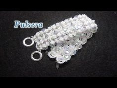 # DIY - Pulsera de encaje de mostacillas# DIY - Beaded lace bracelet - YouTube