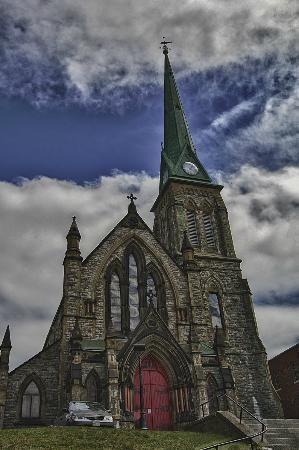Trinity Church, St. John, New Brunswick.  beautiful smallish Anglican church, 115 Charlotte Street.