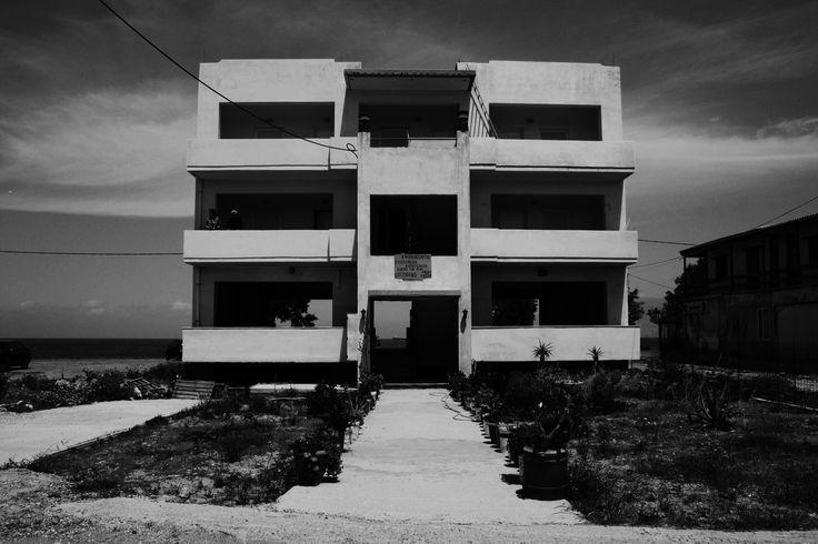 Incomplete house. Black & White. Old greek lady's. Kissamos. Crete. Greece.  Photo:  http://se.pinterest.com/berggren_f