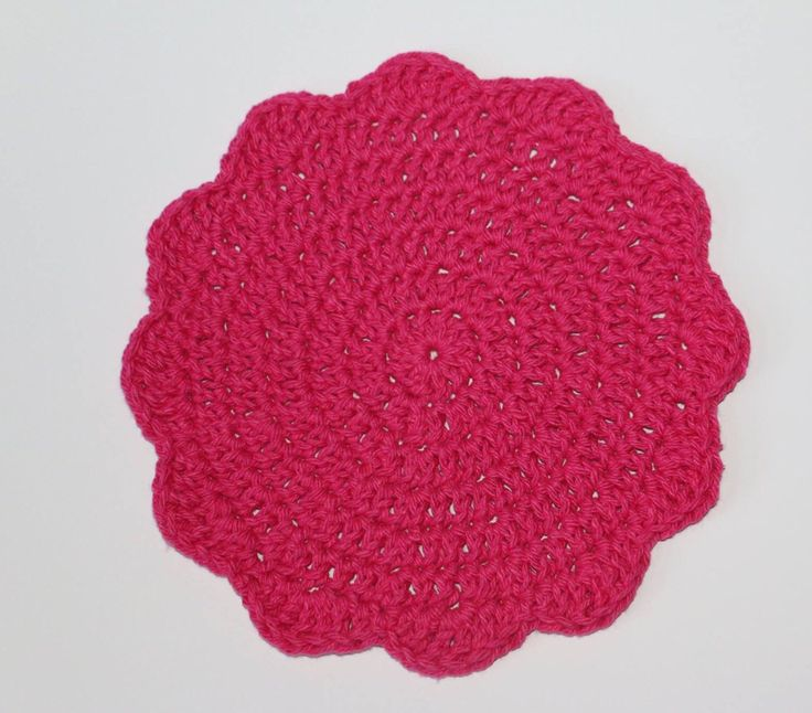 Round Crochet dishcloth/ hot pad by MaureyKnits on Etsy https://www.etsy.com/ca/listing/501889911/round-crochet-dishcloth-hot-pad