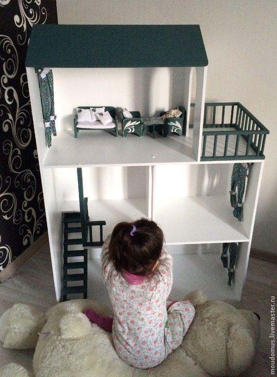 Купить Кукольный дом №10 - кукольный дом, Дом для кукол, игрушка ручной работы