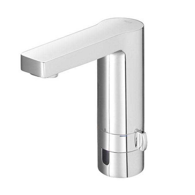 Roca L90 Grifo electrónico para lavabo con limitador de caudal, alimentado con pilas ó conexión a la red    http://www.edenhogar.com/es/grifer%C3%ADa-electr%C3%B3nica/roca-l90-grifo-electr%C3%B3nico-lavabo-5a5301c00-5a5501c00-.html