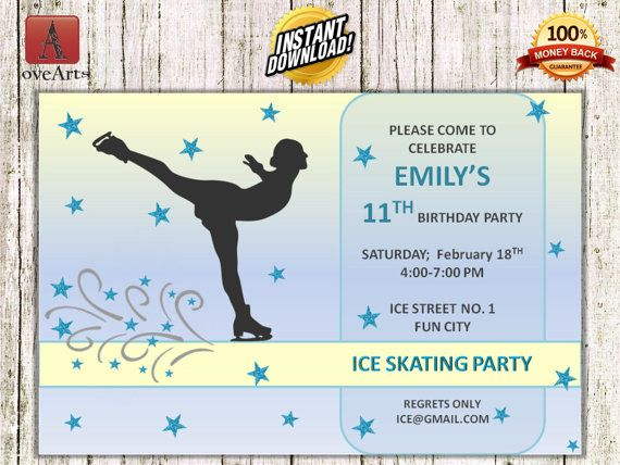 Hey, I found this really awesome Etsy listing at https://www.etsy.com/listing/248928314/instant-download-ice-skating-invitation