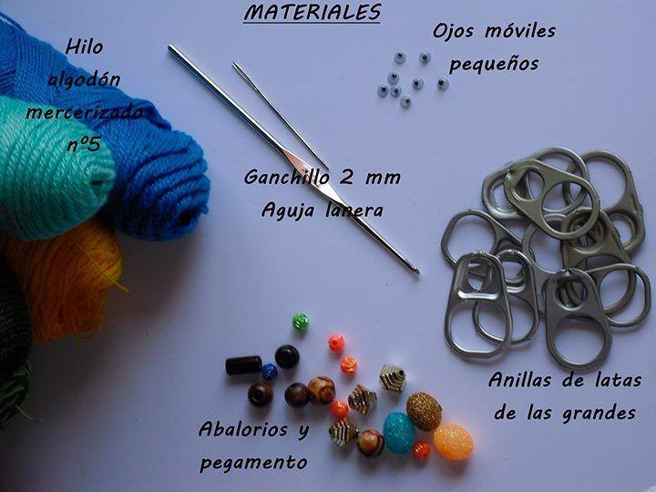 Materiales para hacer colgante con chapas