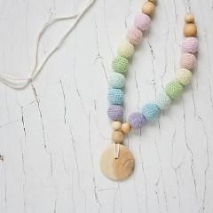FrejaToys Scandi Rainbow Nursing Necklace