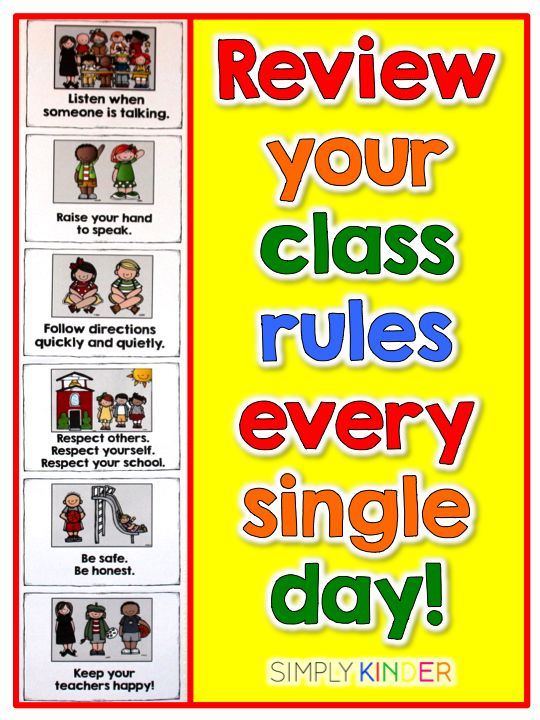 Remember to practice your rules every day all the way to the last day of school. Let kids know these are important enough to do so!