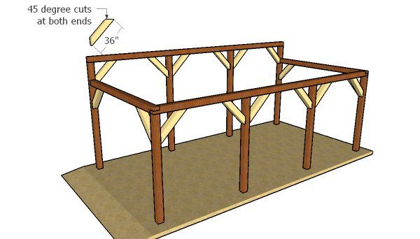 Single Car Lean To Carport Free Diy Plans Howtospecialist How To Build Step By Step Diy Plans Lean To Carport Lean To Carport
