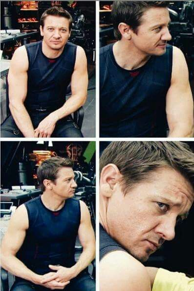 Collage of Four Photos of Jeremy Wearing Sleeveless Black T-Shirt and Black Jeans