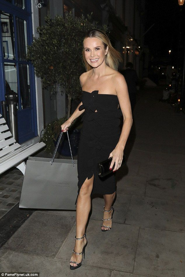 LBD time! Amanda Holden attended Simon Cowell's birthday bash in London on Wednesday...
