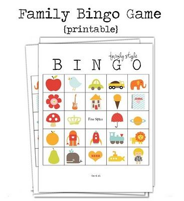 Free Printable ABC Bingo Game! Call out letters of the alphabet and have your kids cover the item that starts with that letter! Or for small kids just call out the item!