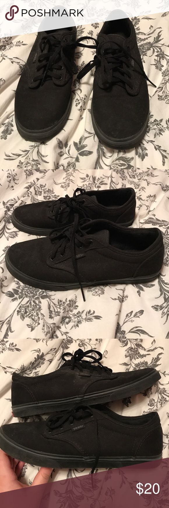 All Black Vans Women's Size 8 All black Vans. Women's size 8. Worn only two or three times. A little dusty. Vans Shoes Sneakers