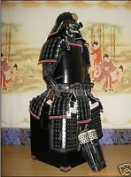 Wearable Iron & Silk  Hand made BLACK Japanese Rüstung  Samurai Armor Suit