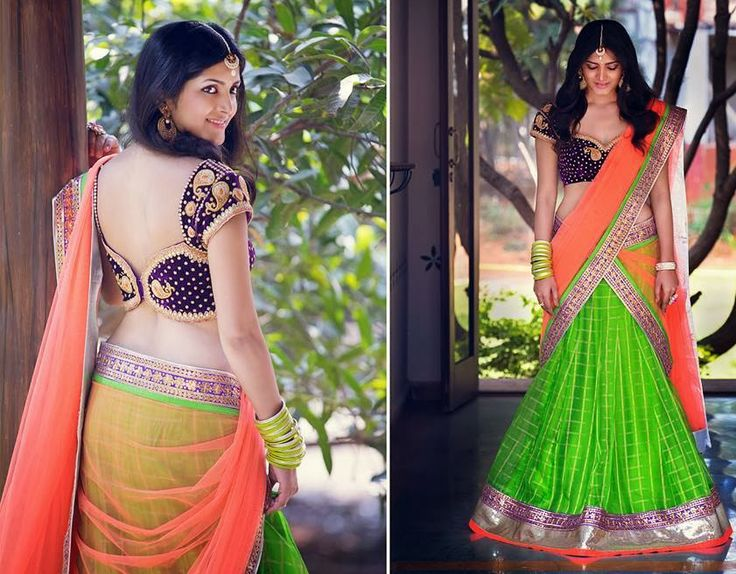 Exclusive Half Saree by Bhargavi | Saree Blouse Patterns