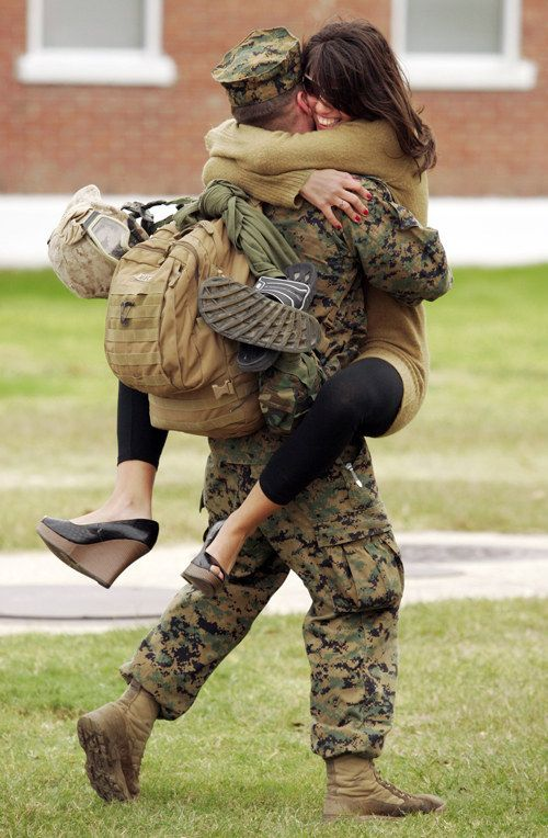 Nothing will make your heart melt more than seeing couples at military homecomings. | http://bzfd.it/13ISdgl