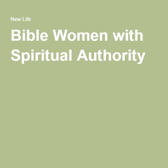 Bible Women with Spiritual Authority