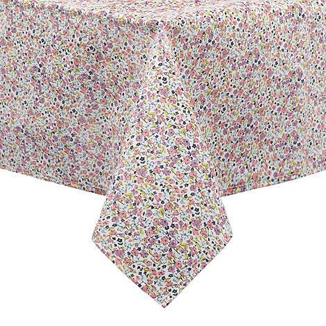 At home with Ashley Thomas Multi-coloured ditsy floral print tablecloth | Debenhams