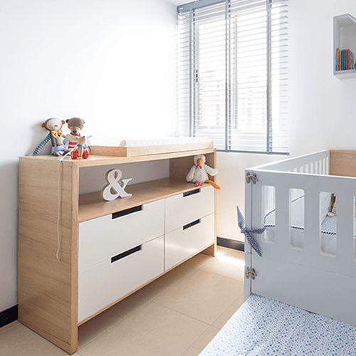 Cambiador polino en roble cambiador para beb s en madera - Comodas para habitacion ...