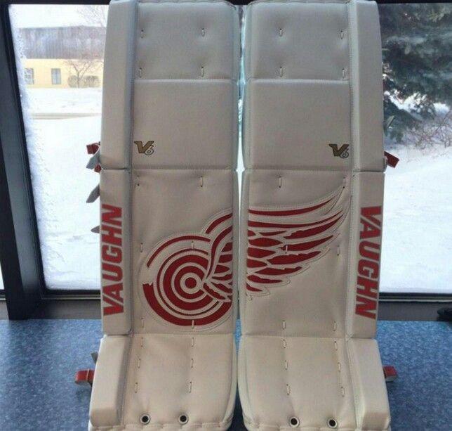 Mrazek 's goalie pads