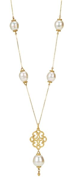 Stuller South Sea pearl station necklace