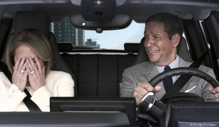 Katie Couric & Bryant Gumbel In BMW super bowl ad. Check out the ad, The Making Of, Behind The Scenes and some fun Outtakes at http://www.ifitshipitshere.com/katie-couric-bryant-gumbel-bmw-super-bowl-ad/