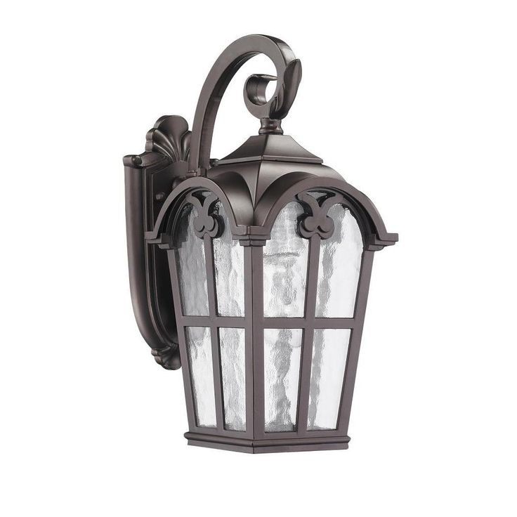 This Transitional One Light Outdoor Wall Light Fixture Features Clear Water  Glass And Will Complement