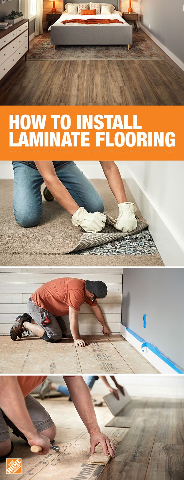 Get beautiful wood look flooring with this DIY flooring tutorial. The Home Depot will walk you through how to prepare and clean the subfloor, then measure, install, and secure snap-lock flooring. Learn more on The Home Depot blog.