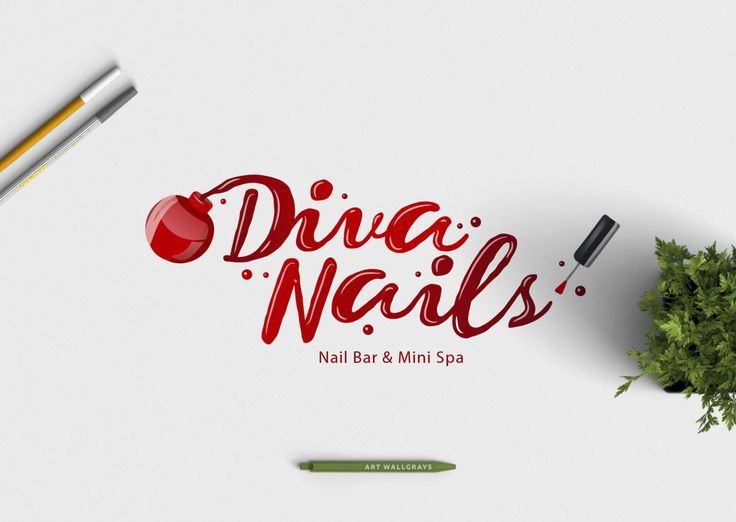 nail polish logo photography logo premade logo pre made logo beauty - Nail Salon Logo Design Ideas