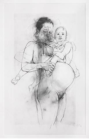 Jenny Saville I prefer these pieces of her work because they are very sketchy and unusual, I like that there isn't any colours because then you aren't focusing on the colours your focusing on the drawing