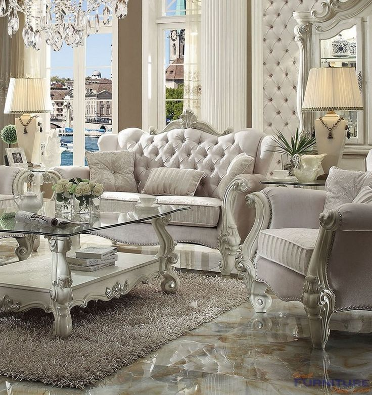 Best Acme Furniture Versailles Loveseat With 3 Pillows 400 x 300