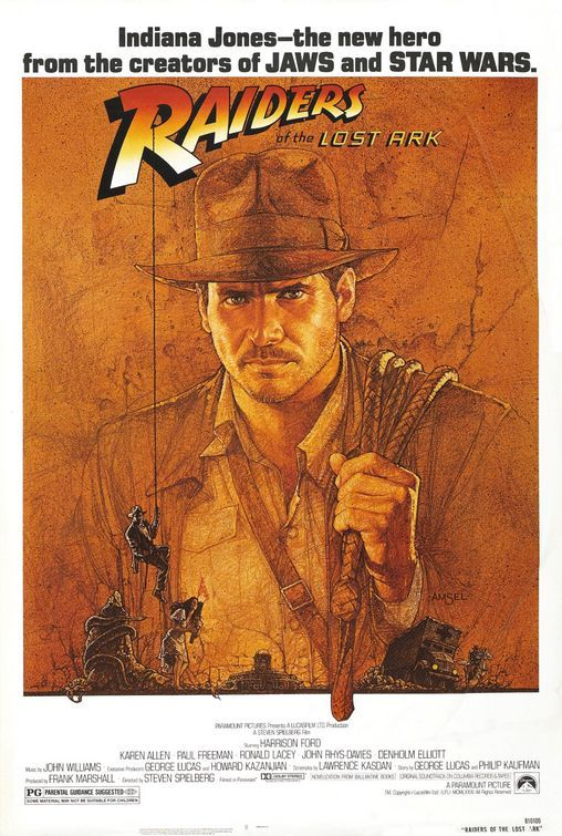This movie rekindled adventure movies, and the poster recaptures the glory days of serial one-sheets.