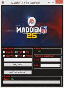 Madden 25 Ultimate Team Hack Online 2017 Tool New Madden 25 Ultimate Team Hack download undetected. This is the best version of Madden 25 Ultimate Team Hack, voted as best working tool.