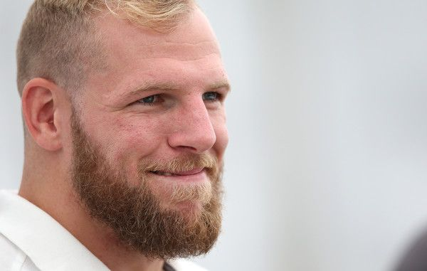 James Haskell Photos Photos - James Haskell talks to the media during the England media access at Pennyhill Park on August 17, 2015 in Bagshot, England - England Media Access