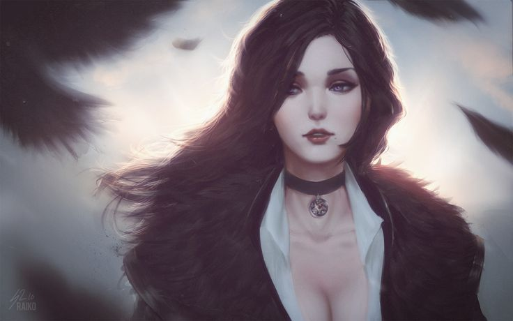Yennefer of Vengerberg, Sean Tay on ArtStation at https://www.artstation.com/artwork/YOeO3