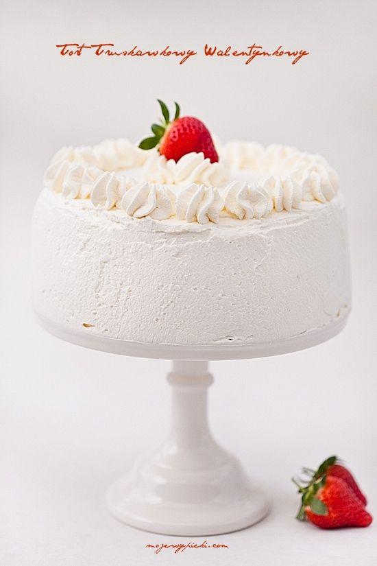 Tort Biała Truskawka