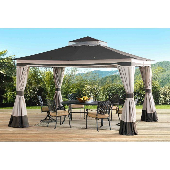 Graypointe 12 Ft W X 10 Ft D Metal Permanent Gazebo Gazebo Patio Gazebo Patio