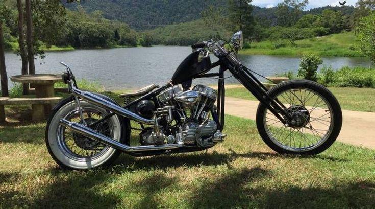 1955 Harley Davidson Panhead #harleyddavidsonpanhead