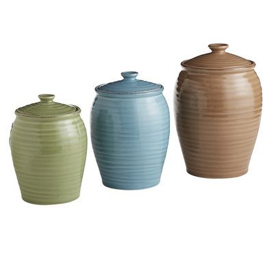 Potter's Wheel Canisters -gotta make these my new colors when I redo my kitchen...naturally neutral from pier 1