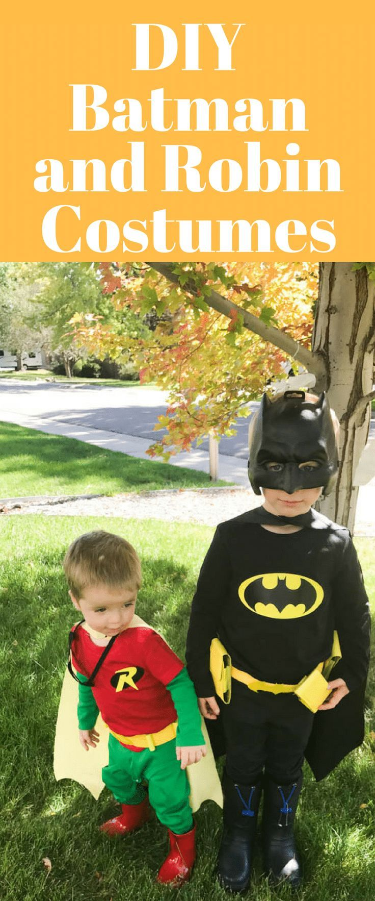 Diy batman and robin costumes for kids pinterest fandeluxe Choice Image