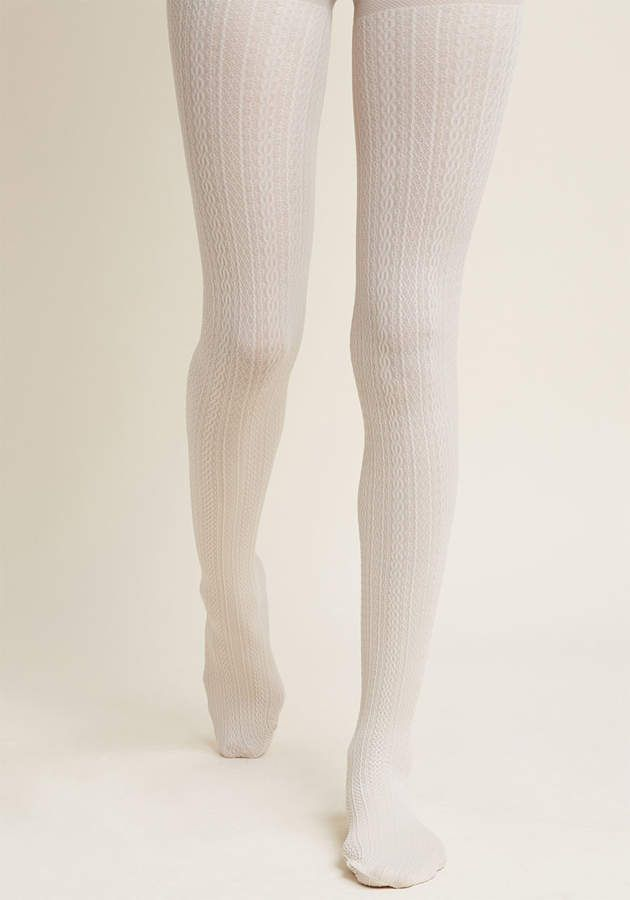84a42b7e8b0a2 Textiliana Limited Cable for Discussion Tights in Midnight  #chic#hosiery#texturing