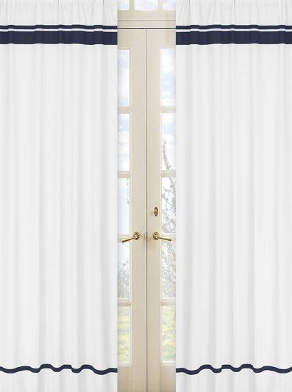 hotel striped semisheer rod pocket curtain panels