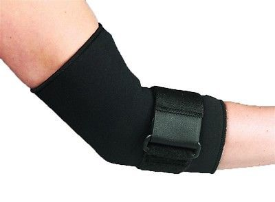 Black neoprene adjustable elbow #strap #support brace wrap tennis golfer #arthrit,  View more on the LINK: 	http://www.zeppy.io/product/gb/2/310765420743/