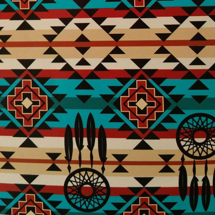 Turquoise And Red Diamond Dreamcatcher Southwest Tribal