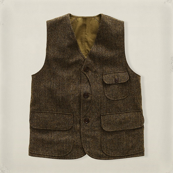 Rrl Reversible Herringbone Vest Togs Men S Attire